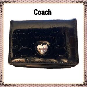 Coach Mini Patent Leather Credit Card Wallet